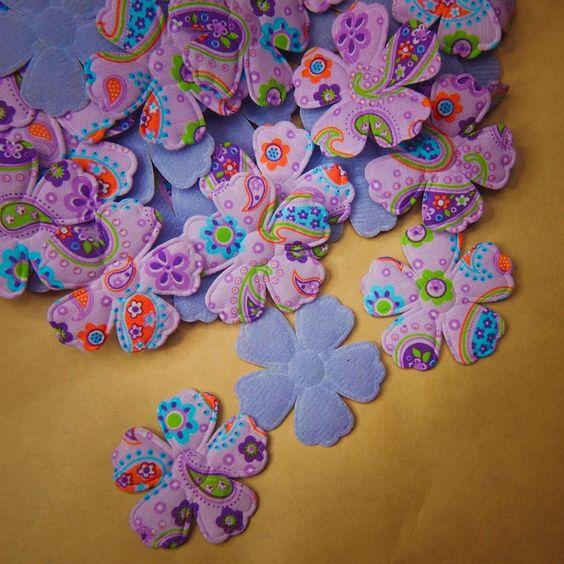Fabric Paisley Flower Applique #100051
