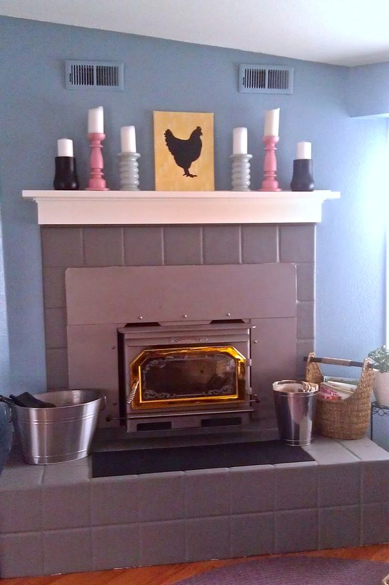 Cheap Amp Easy Fireplace Makeover For The Home Pinterest