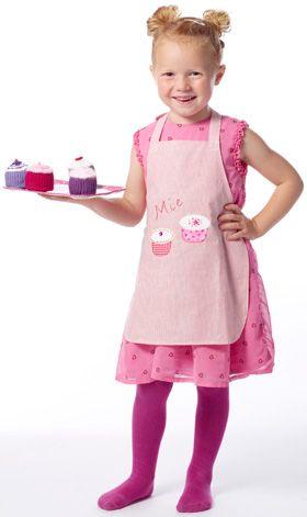 Børneforklæde med cupcakes