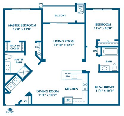 Cypress residential floor plan The Club at Autumn Ridge