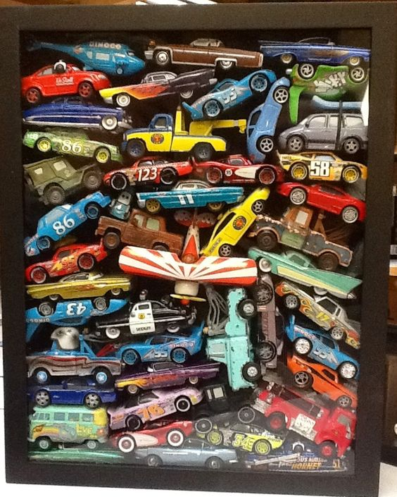 Nursery art, something to do with all of MIke's matchbox cars