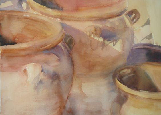 Ceramic jars II / Tinajas II - Watercolour / Acuarela