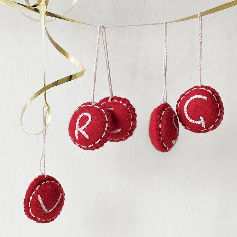 pretty display of ornaments.