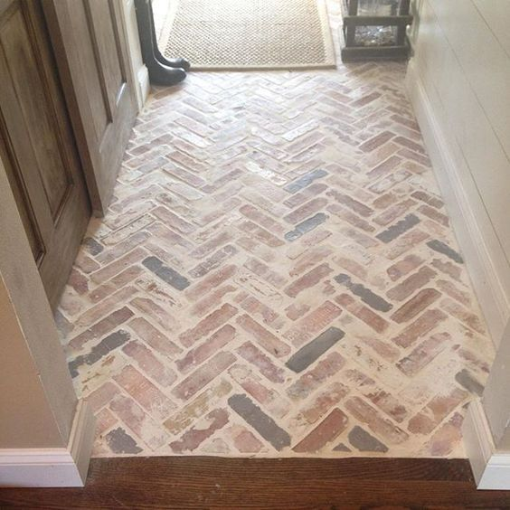 Adding Brick To The Inside Of Your Home With Images Brick Look Tile Brick Flooring Brick Ceramic Tile