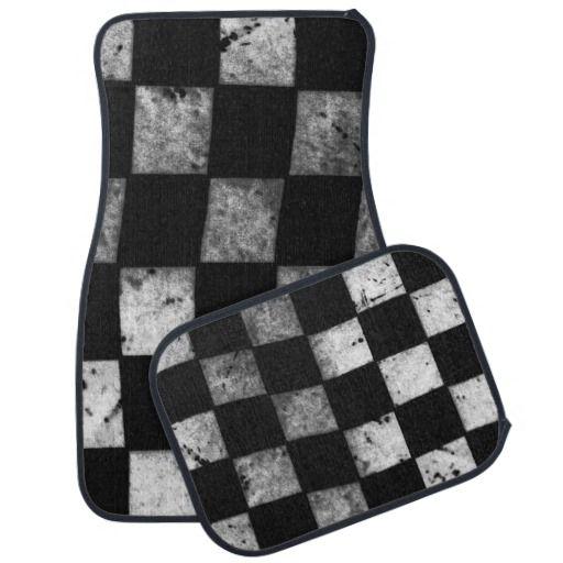 Checkered Mat: Checkered Flag Floor Mats