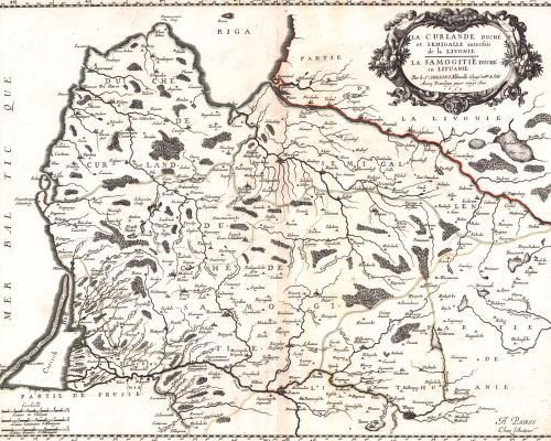La Curlande Duché et Semigalle (1659), by Nicolas Sanson (1600-1667).