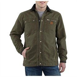 On sale. Carhartt Work Jacket Mens Sandstone Quilt Lined Green ...