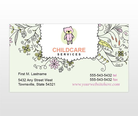 babysitting business cards templates free - Template