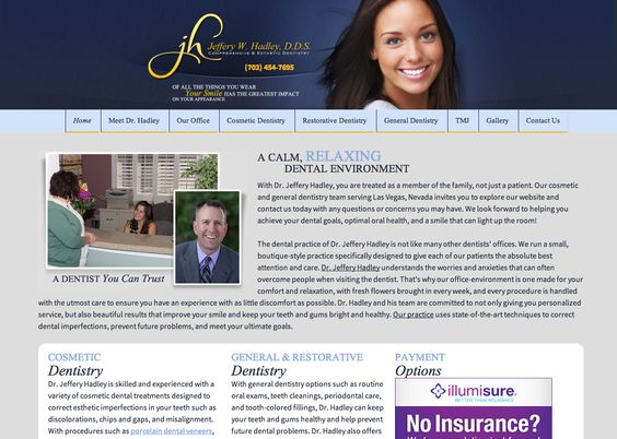 Our beautiful website! http://smilesbydrhadley.com/