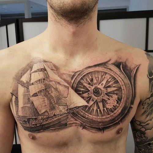 125 Best Compass Tattoos For Men Cool Design Ideas 2020 Compass Tattoo Men Tattoos For Guys Compass Tattoo