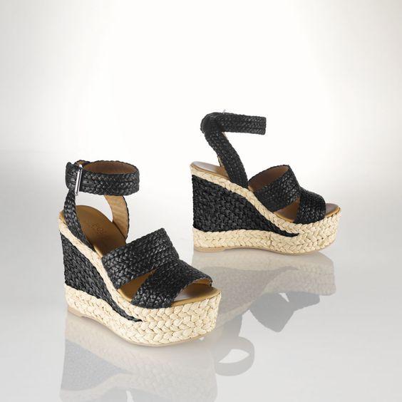 Raffia Ethel Espadrille - Sandals  Shoes - RalphLauren.com