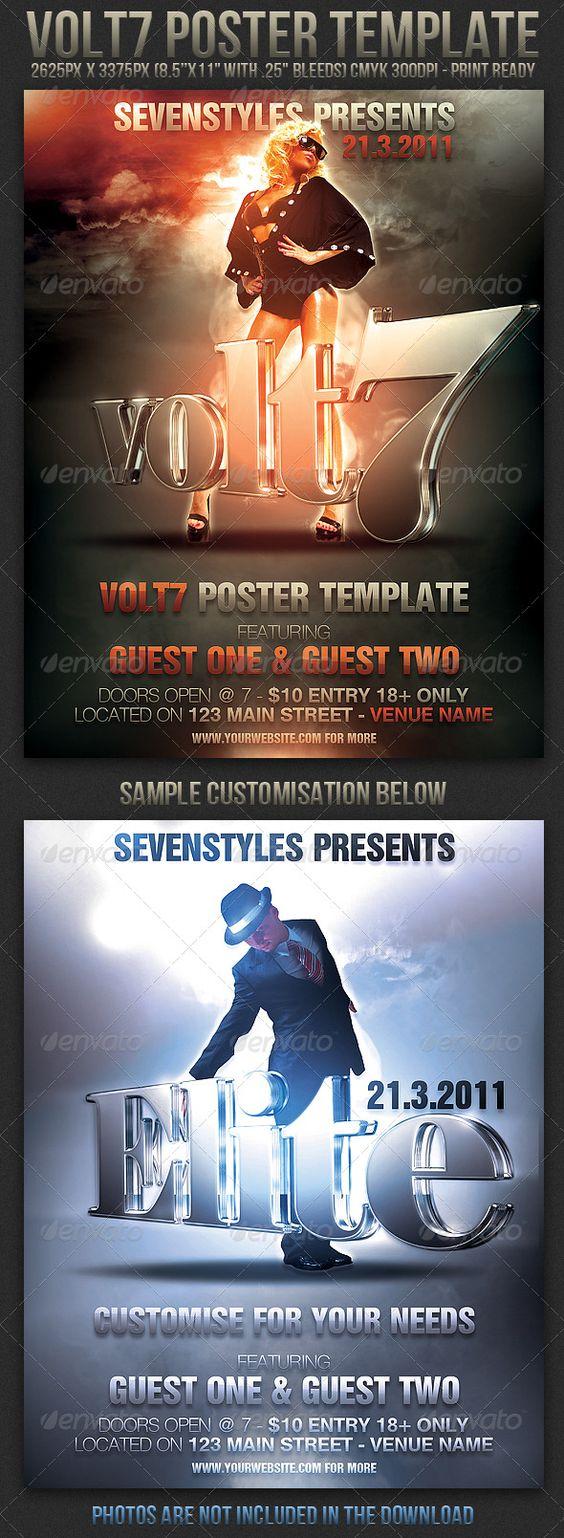 Volt7 PosterFlyer Template – Mayhem Flyer Template