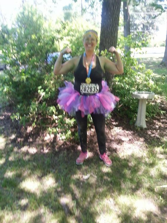 After my Color Run, I took pix in my yard in Marshall, TX! May 2, 2015 Shreveport!!!
