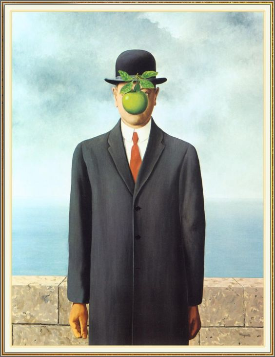 "Rene Magritte ""The Son of Man, 1964"" for apple unit"