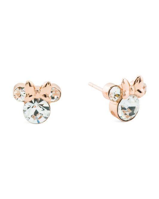 Minnie Mouse Coffee Stud Earrings