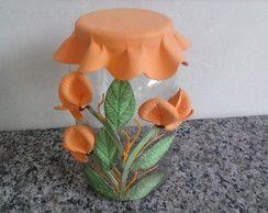 vidro decorado em eva