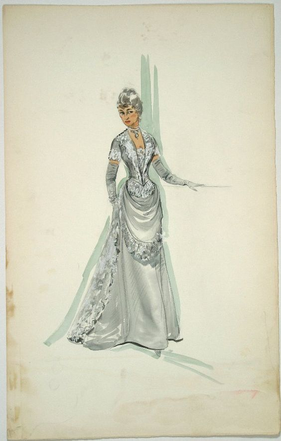 Edith Head Beaulah Bondi Costume Sketch