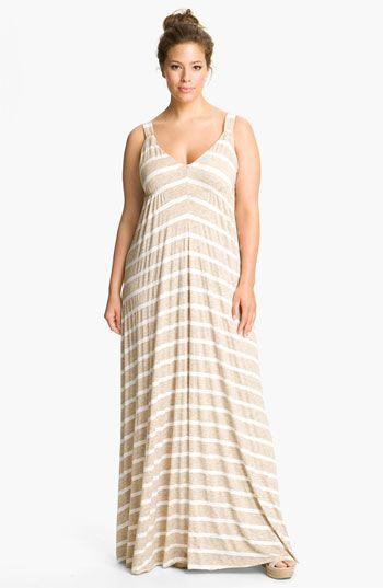 Eight Sixty Stripe Maxi Dress (Plus) | @Nordstrom $74.90.