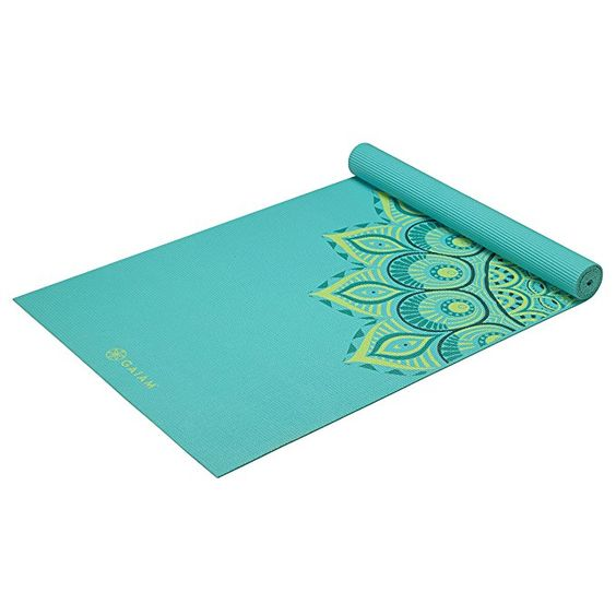 Gaiam Premium Print Yoga Mat Extra Thick Non Slip Exercise Fitness Mat For All Types Of Yoga Pilates Floor Exerc Print Yoga Mat Gaiam Yoga Mat Gaiam Yoga