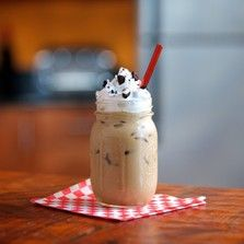 Chocolate Cream Cookie Sandwich Iced Coffee by celebrity chef Jeff Mauro