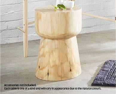 Natural Wood Side Table Aldi Australia Interior Design