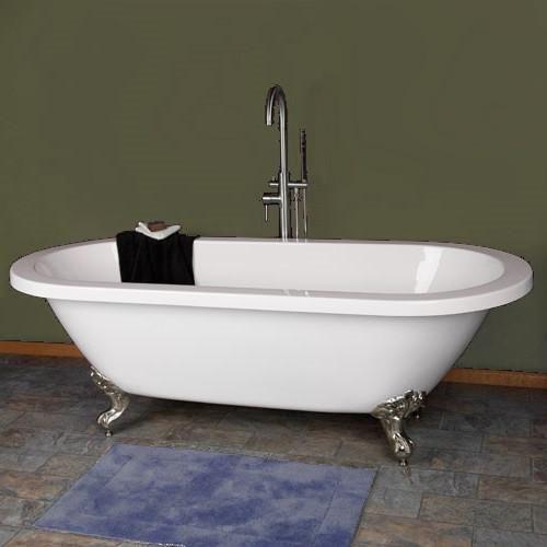 Elizabeth 70 Inch Dual Acrylic Bathtub With Claw Feet Bathtub Tub Clawfoot Bathtub