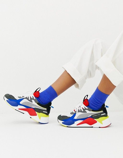 so cheap buying cheap high fashion Puma Rs-X Toys blue and red trainers | pumas in 2019 | Red ...