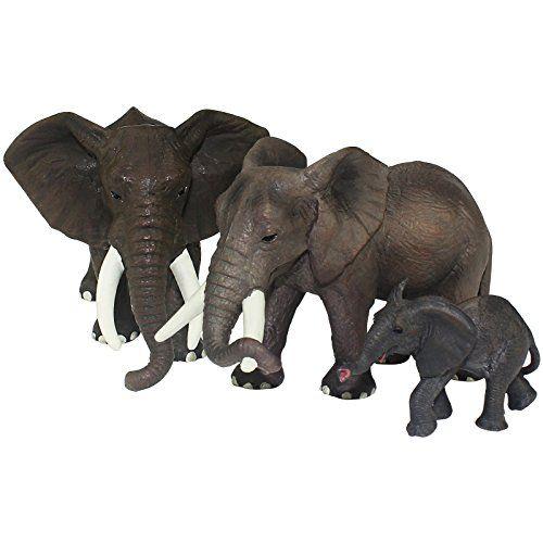 Jumbo African Jungle Animals Toy Figure Realistic Plastic Figurine Playset