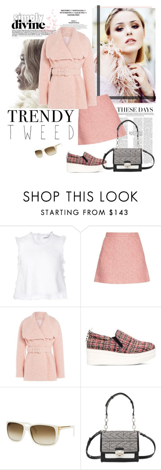 """Trendy Tweed"" by bjigg ❤ liked on Polyvore featuring T By Alexander Wang, Gucci, Emilia Wickstead, KG Kurt Geiger, Fendi and Karl Lagerfeld"