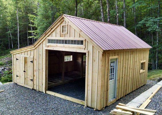 One Bay Garage With Images Building A Shed Shed Plans Garage Design