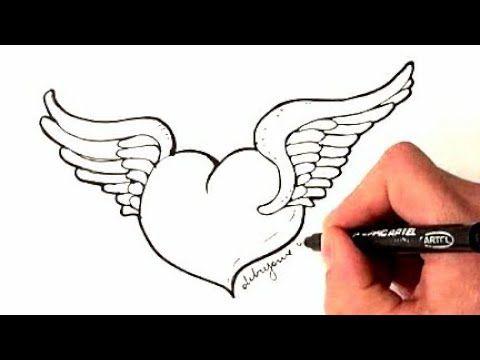 رسم سهل رسم قلب حب للمبتدئين تعليم الرسم رسومات بالرصاص للاطفال رسم سهل بنات Easy Drawings Youtube Okay Gesture Art