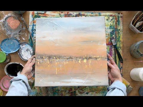 abstraktes bild in acryl goldene folie struktur anleitung auch fur anfanger rettungsschutzdecke youtube abstrakte bilder abstrakt maltechniken geometrisch kunst gemälde kaufen