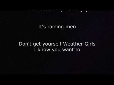 It S Raining Men With Lyrics Geri Halliwell Youtube Rain Man Lyrics Geri Halliwell