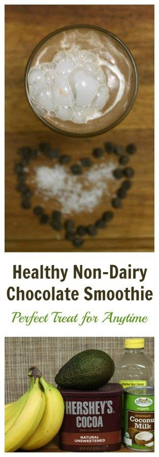 Healthy Non Dairy Chocolate Smoothie. A perfect treat, anytime!