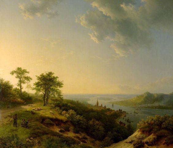 Barend Cornelis Koekkoek - Gezicht op Heidelberg 1837