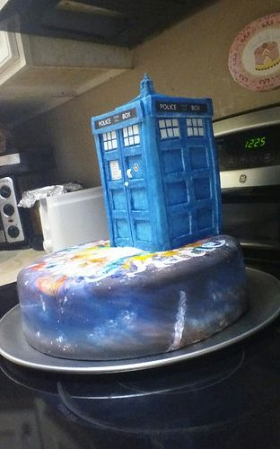 I made this for Katie's 16th Birthday - Tardis Cake