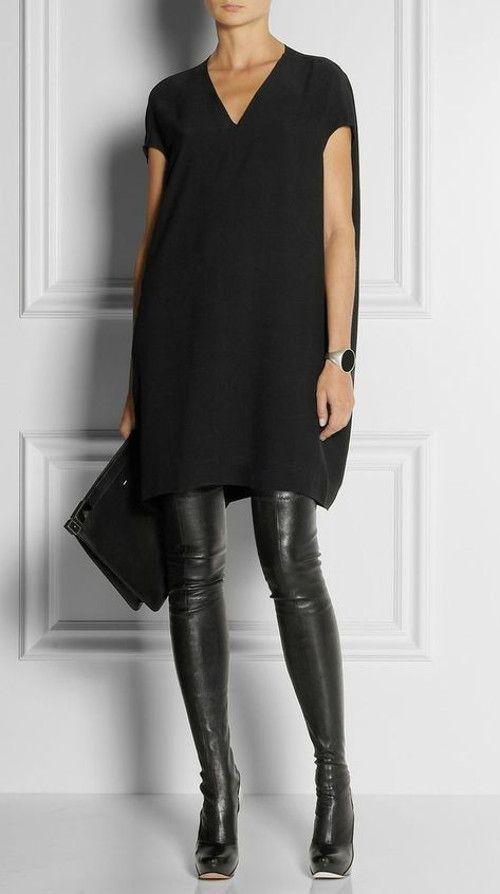 Calça de couro: saiba montar looks incríveis #looksincriveis