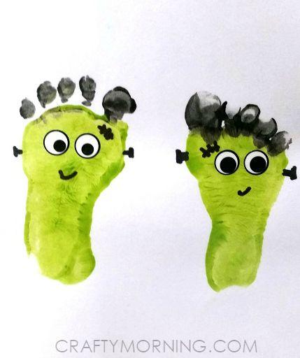 Footprint Mummies (Kids Halloween Craft Dressing up, Nothing more - halloween crafts ideas