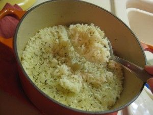 Baked rice - I need to try this. Supposedly the rice comes out perfect every time.