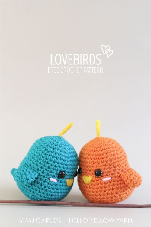 Lovebirds By MJ - Free Crochet Pattern - (helloyellowyarn):
