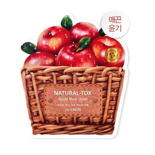 1 98 The Saem Natural Tox Apple Mask Sheet 20g1pcs Made In Korea Ebay Fashion Tomato Mask Korean Fashion Apple