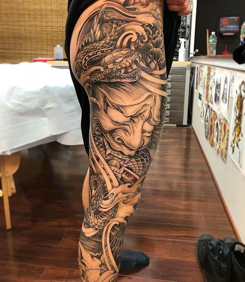 125 Best Leg Tattoos For Men Cool Ideas Designs 2020 Guide Leg Tattoos Leg Tattoo Men Japanese Tattoo