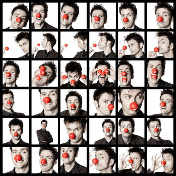 """David Tennant: The only man who can look hot even when wearing a clown nose."""