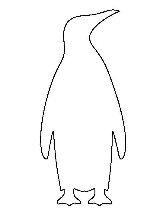 Penguin Outline Emperor penguin pattern. use the printable outline for ...