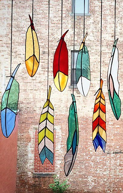 Stained Glass Feathers ♥: