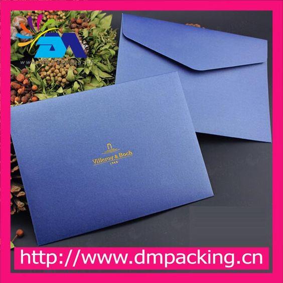 hign quality blue color paper wedding invitation envelope