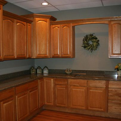 A Well Colors And Oak Kitchens On Pinterest