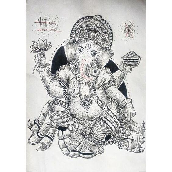 Ganesha disponível, estou fazendo um valor massa para tatuar se algum terráqueo estiver afim entrar em contato via inbox ou no Whats (41) 9589-4302