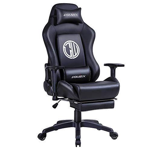 Dowinx Chaise Gaming Ergonomique Inclinable De Style De Course Avec Support Lombaire Pour Massage Fauteuil De Bureau Pour Ordinateur Gaming Chair Chaise Decor