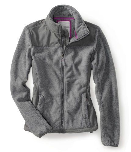 Aeropostale Juniors Fleece Jacket Jacket - Medium Gray - L. From
